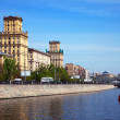 View of Moscow. Berezhkovskaya embankment — Foto Stock