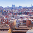 Top view of residence district in  Barcelona - Photo