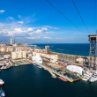 View of Port Vell from high point. Barcelona - Photo
