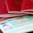 Passports witn Schengen visa — Stock Photo