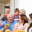 Happy multigeneration family — Stock Photo