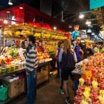 La Boqueria market. Barcelona, Spain — Stock Photo #25916435