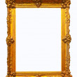 Luxury gilded frame. Isolated over white background   — Stock Photo