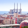 view of Badalona and Sant Adria de Besos  — Stock Photo