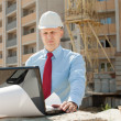 Builder works at construction site — Stock Photo #25916809