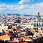 vue panoramique de la ville de Barcelone depuis montjuic — Photo