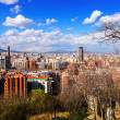 Stock Photo: Barcelonfrom Montjuic