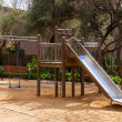 Wooden playground area — Stock Photo