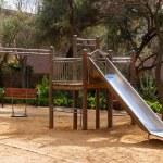 Wooden playground area — Stock Photo