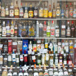 Showcase alcohol store — Foto Stock