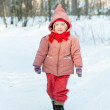 Stockfoto: Baby girl in winter park