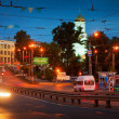 Night view of Ivanovo - Lenin Avenue - Zdjęcie stockowe