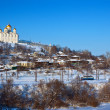 Downtown of  Vladimir city in winter — Stock Photo