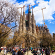 view of sagrada familia by architect antoni gaudi — Stock Photo