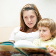 Stockfoto: Mother and child reading book