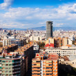 Panorama of Barcelona from Montjuic. Catalonia — Stockfoto