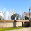 Stock Photo: Fountain in CataloniSquare