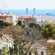 View of Barcelona from Park Guell - Zdjęcie stockowe