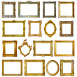 Set of 16 picture frames — Stock Photo