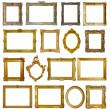Set of 16 picture frames — Stock fotografie