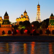 Panorama of Moscow Kremlin in sunset. — Stock Photo