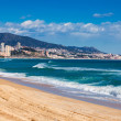 Stock Photo: Sand beach in Badalona. Barcelona
