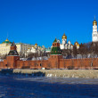 Moscow Kremlin in winter day. Russia — Stock Photo #25918709