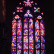 Stained-glass window in Saint Vitus Cathedral — Foto de Stock
