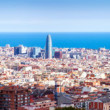 Stock Photo: Panoramof historic district at Barcelonin sunny day,