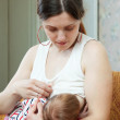 Nursing little baby — Stock Photo