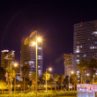 Night view of luxury residence district — Stock Photo