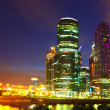Moscow business centre in night — Stock Photo #25919183