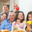 Portrait of happy multigeneration family — Stock Photo #25919259