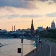 Stock Photo: Panorama of Moscow in sunset