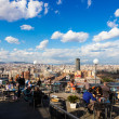 Stock Photo: View of Barcelonfrom cafe on top of Montjuic