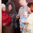 Family is meeting a kinsfolk — Stock Photo