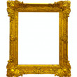 Gold picture frame path — Stock Photo #25919691