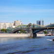 Stock Photo: View of Moscow. PedestriBogdKhmelnitsky Bridge