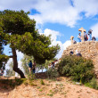 Calvary in Park Guell. Barcelona — Stock Photo