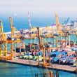 Port de Barcelona - industrial port. Spain — Stock Photo