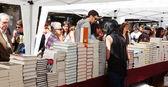 Libros en puestos callejeros en día de san jorge — Foto de Stock