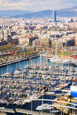 Top view of Port Vell — Stock Photo