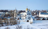 Pokrovsky monastery at Suzdal in winter — Stock Photo