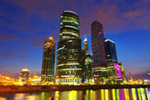 Skyscrapers of Moscow city business center — Stock Photo