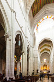 Inside view of Almudena Cathedral in Madrid, Spain — Stock Photo