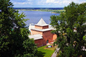 Kremlin wall at Nizhny Novgorod — Foto Stock