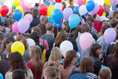 Carnival procession dedicated 1022 anniversary of Vladimir city — Stock Photo