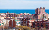 Top view of ordinary spanish city — Stock Photo