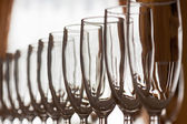 Wineglasss in rows — Stock Photo