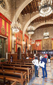 Old interior of city hall of Barcelona — Stock Photo